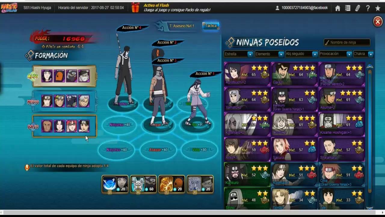 Naruto Online Formaciones Para Puo Escarlata C YouTube