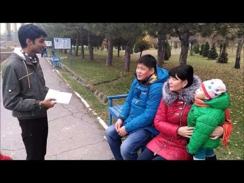 Kyrgyz people wishing happy diwali in hindi (ISM, Bishkek)