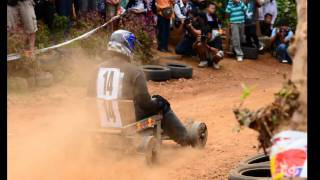 The Wooden Cart Racing In Thailand.avi