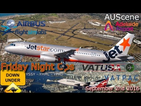 FSlabs A320 flies VATUSA FNO DownUnder Melbourne to Adelaide