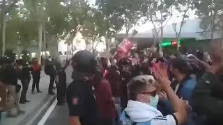 Más imágenes de los enfrentamientos de los perros de presa de Iglesias con la Policía en VALLECAS