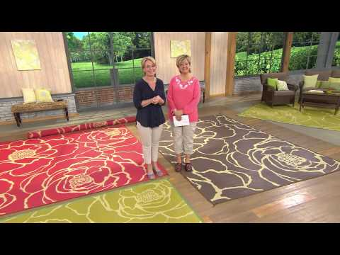 Barbara King Bloom Square 9x9' Reversible Outdoor Mat by PatioMats with Carolyn Gracie