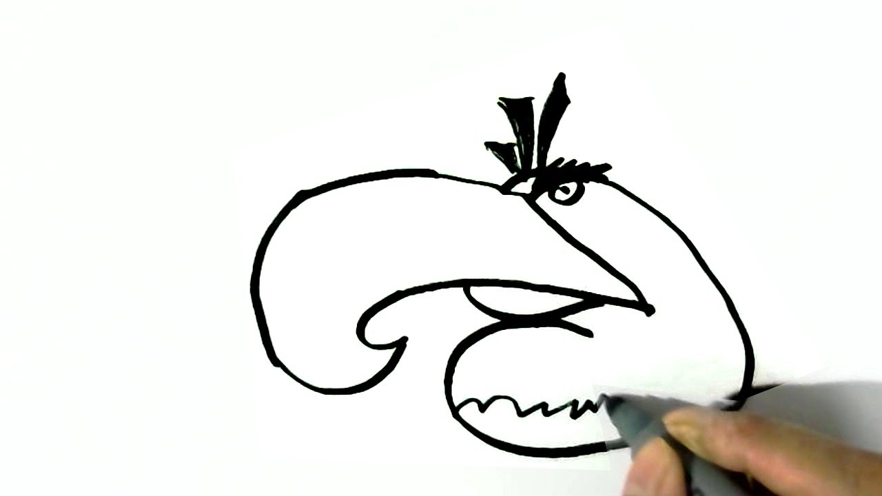 How To Draw Mighty Eagle Angry Birds Easy Steps For Children Kids