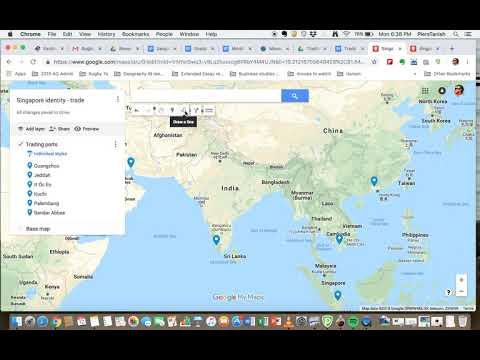 Adding Sea routes on Google maps Grade 7
