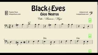 Video Partitura de Chelo y Fagot Ojos Negros Black Eyes download MP3, 3GP, MP4, WEBM, AVI, FLV Mei 2018