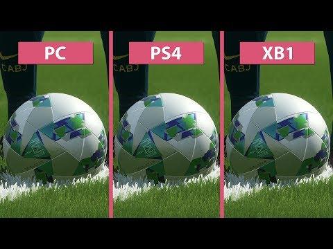 PES 2018 – PC vs. PS4 vs. Xbox One Graphics Comparison