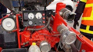 Sapeurs Pompiers : entrainement stage de formation conducteur d'engin pompe cod 1.