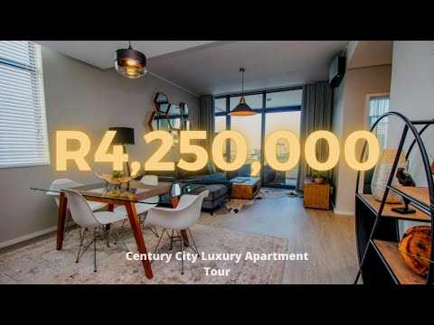 Inside Luxury 2 Bedroom Apartments | Century City, Cape Town | Let's Prop' In Home Tour