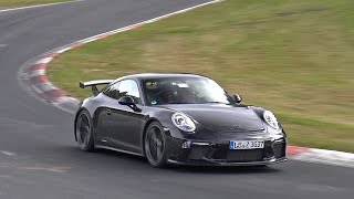 Porsche 991 GT3 MkII Still Testing on the Nordschleife!