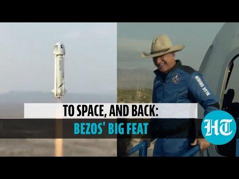 Watch: Jeff Bezos' space flight via Blue Origin rocket; back to Earth after 10-min voyage