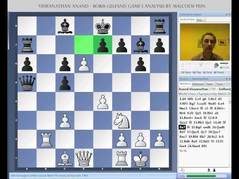 World Chess Championship 2012 Anand vs. Gelfand Game 1 Analysis by Malcolm Pein