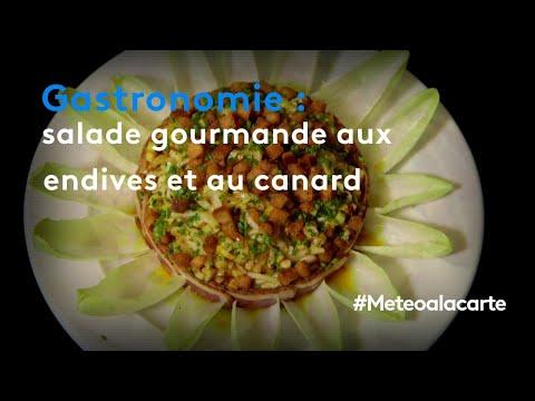 gastronomie-:-salade-gourmande-aux-endives-et-au-canard---météo-à-la-carte