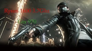 Watch Dogs | GTX 970 & R5 1600 | 1080p Ultra Settings & Msaa X2/X4 | Frame-Rate Test