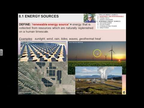 8.1.1 Energy Sources, Fossil Fuels, and Sankey Diagrams (1-15)