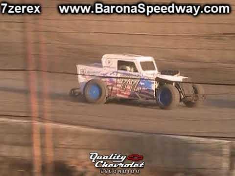 Dwarf Car Heat 1 Barona Speedway 9-9-2017
