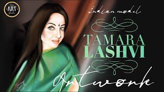 Tamara Lashvi | Indian Model | Painting