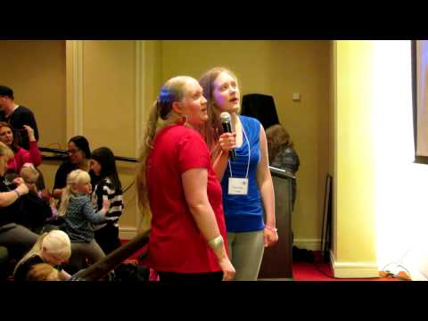 """HPS 2014 Conference Karaoke - Iomara and Christina sing """"Don't Stop the Music"""""""