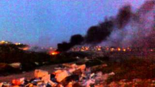 Fire On Julis Dump Near Industrial Zone MyJulis Druze Israel www MyJulis co il thumbnail
