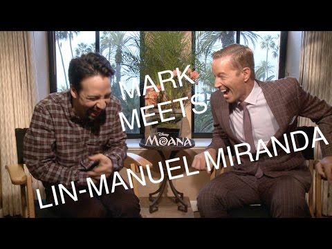 LIN-MANUEL MIRANDA TALKS MOANA AND HAMILTON MOVIE!