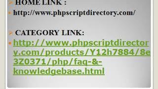 FAQ Script, Knowledgebase Script, FAQ PHP Script, Knowledgebase PHP Script