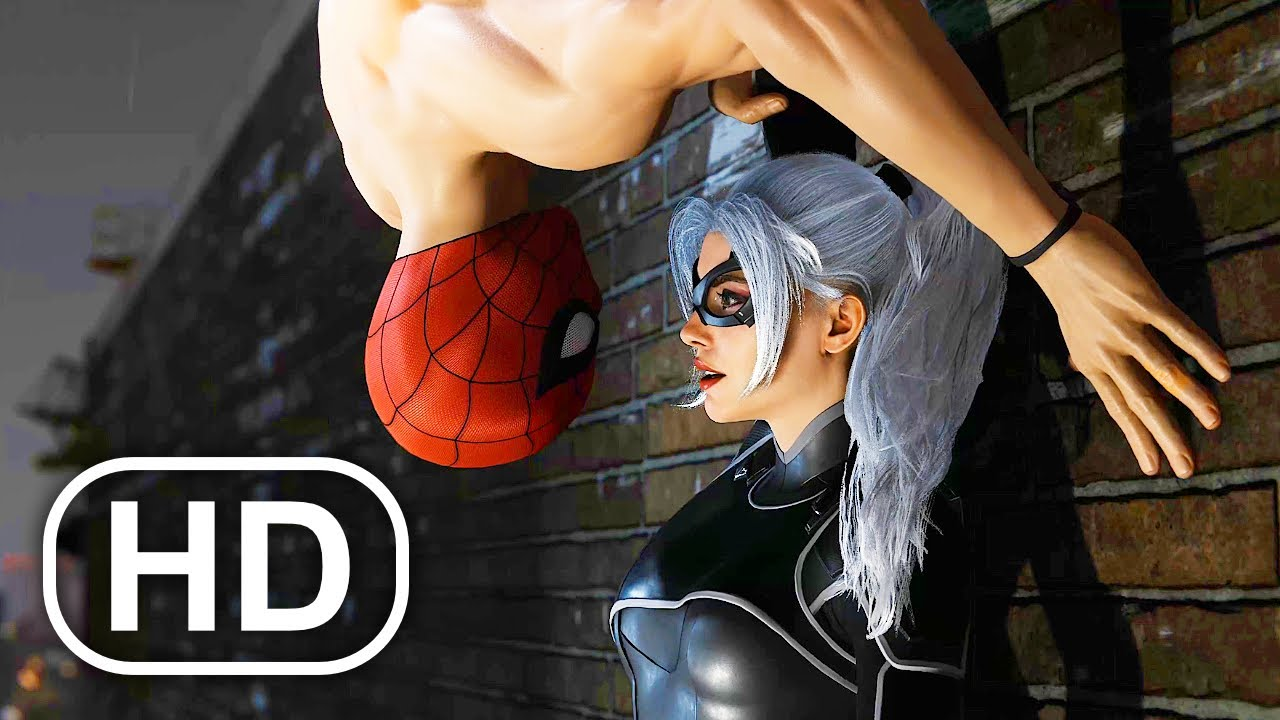 Download Spider-Man Kisses Black Cat Almost Scene 4K ULTRA HD - Spider-Man Remastered PS5