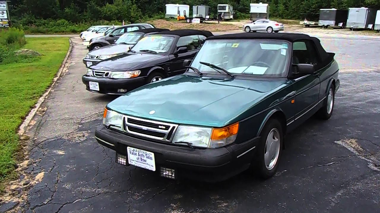 1994 saab 900 turbo convertible 5mt w 245k walkaround overview youtube. Black Bedroom Furniture Sets. Home Design Ideas