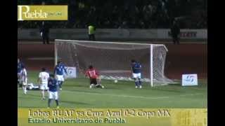 Lobos BUAP vs Cruz Azul 0-2 Copa MX 2013
