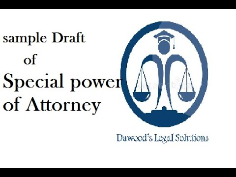 Draft of Special power of attorney # Sample Legal Drafts # legal drafting # drafting #