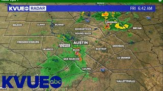 A growing storm with heavy rain is moving through parts of central texas, specifically in southern travis county and hays county. take look at what we're t...