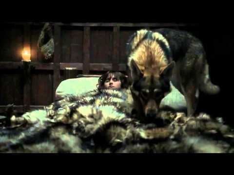 Bran Starks's Direwolf Kills The Assassin - Game of Thrones 1x02 (HD)