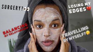 Zapętlaj CHATTY GRWM (Skincare Edition) | I'M LOSING MY EDGES :( | Only Bells
