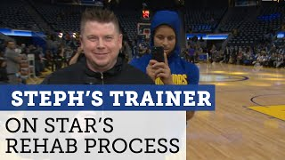Steph Curry's trainer doesn't think there's risk of re-injury to Steph's hand | NBC Sports Bay Area