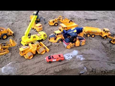 the-best-toys-joal-on-the-beach-|-we-build-a-road-in-the-sand