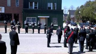 Gun salute for Canadian Soldier at funeral