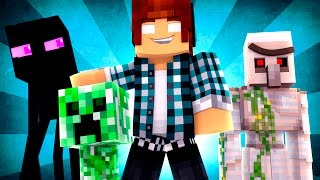 Minecraft Animado #26 : ESCOLA MONSTRO !! ( Minecraft Animation )