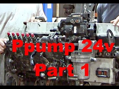 PPump Installed on 24 Valve Cummins Part 1 - Project Explained, Engine  Pulled