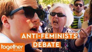 Reggie Yates Visits Anti-Feminist Speakers Debating at Speakers' Corner