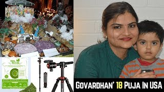 Govardhan 2018 Puja in USA | Sharing My Video Recording Equipment | Review of Real Matcha Included