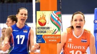 SEMI-FINAL Highlights  NETHERLANDS vs AZERBAIJAN  CEV Womens EuroVolley 2017  BrenoB