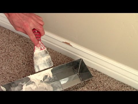 How to repair damaged baseboards
