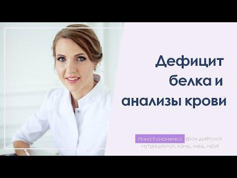 Как по анализам крови диагностировать дефицит белка.  Инна Кононенко. Врач-диетолог, СПб