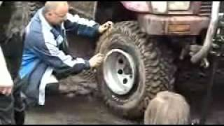 How to inflate a tyre with WD40.wmv