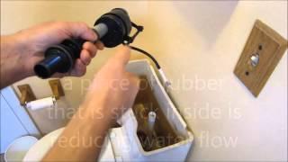 How to repair slow filling toilet