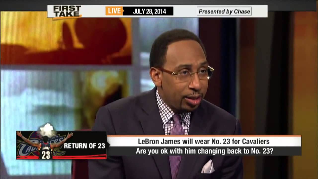 e2862c9c9 First Take - LeBron James Returns to Jersey No. 23 - YouTube