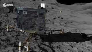 Philae Lander Rosetta Mission Landing on a Comet - Animation Video