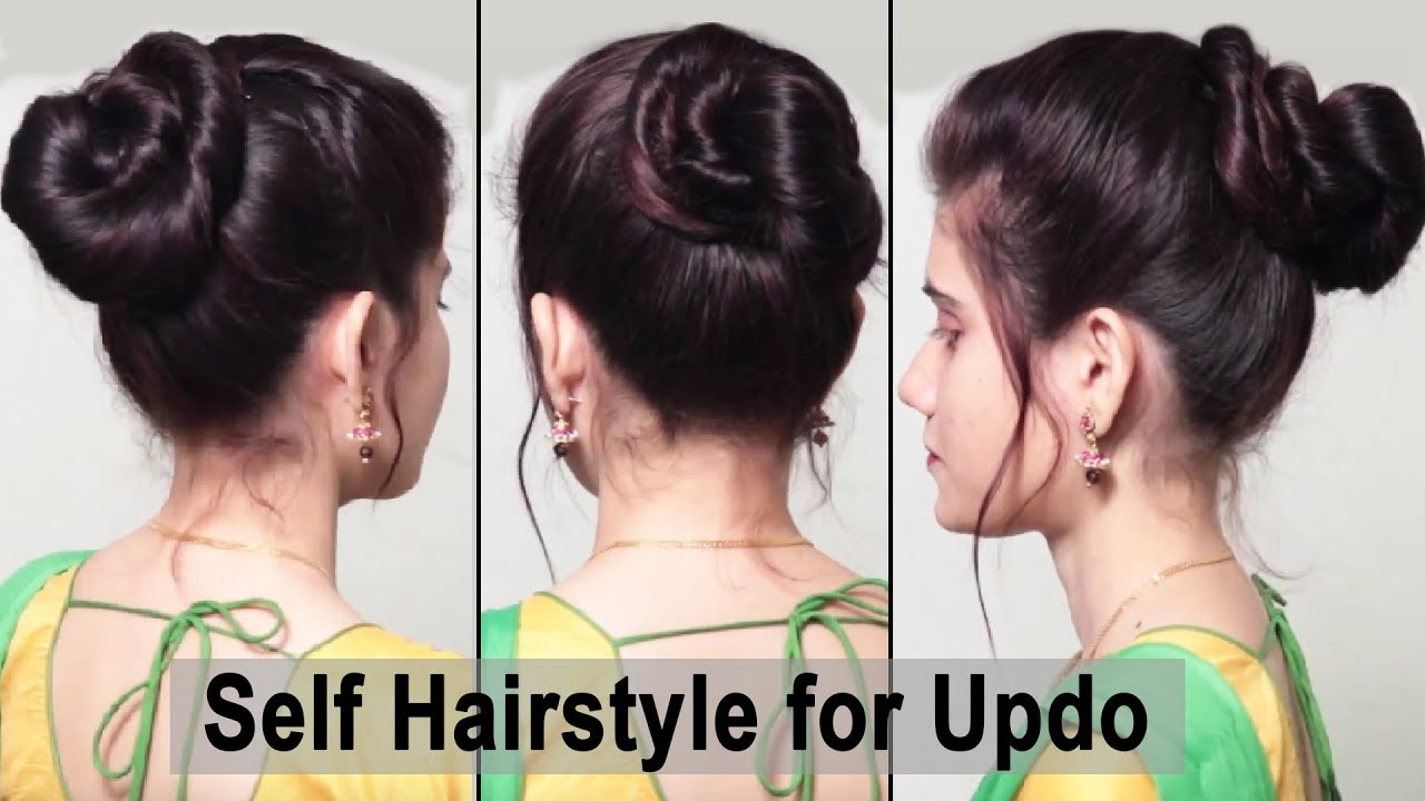 Easy self hair styles for Girls / MESSY bun hairstyles / Everyday Hairstyle  for collage
