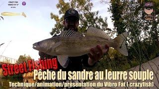 StreetFishing #17 Pêche du sandre au Leurre souple ( Vibro Fat Crazy Fish)
