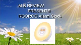 ROOROO  Digital Clock FM Radio Alarm Clock with 6 Natural Sounds