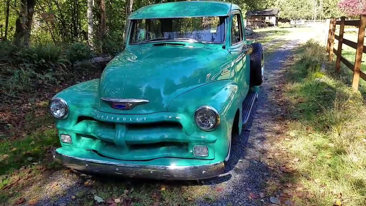 1954 Chevrolet 3100 Modified Pickup For Sale - YouTube