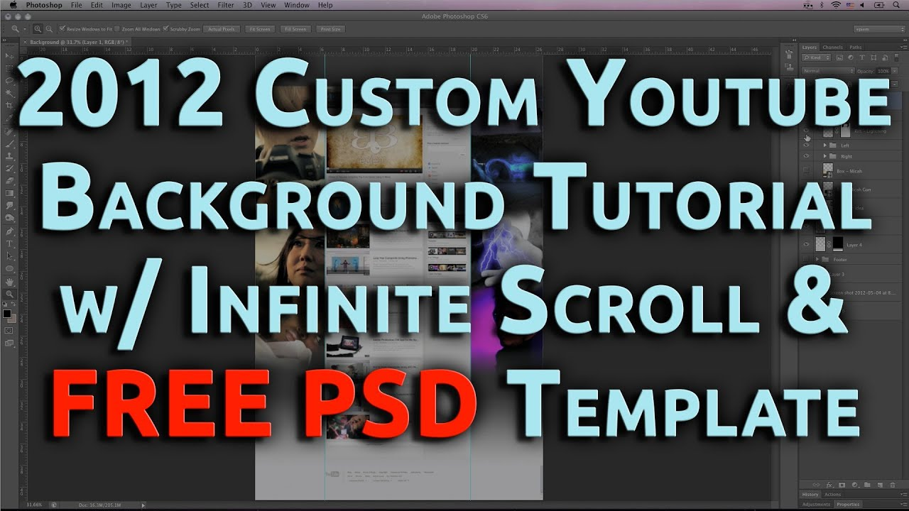 Background image zoom on scroll - 2012 Custom Youtube Background Tutorial W Infinite Scroll Free Psd Template